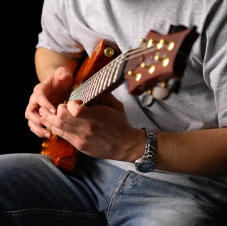 playing blues guitar backing tracks